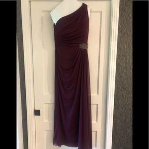 Purple Alex Evenings One Shoulder Formal Dress 8